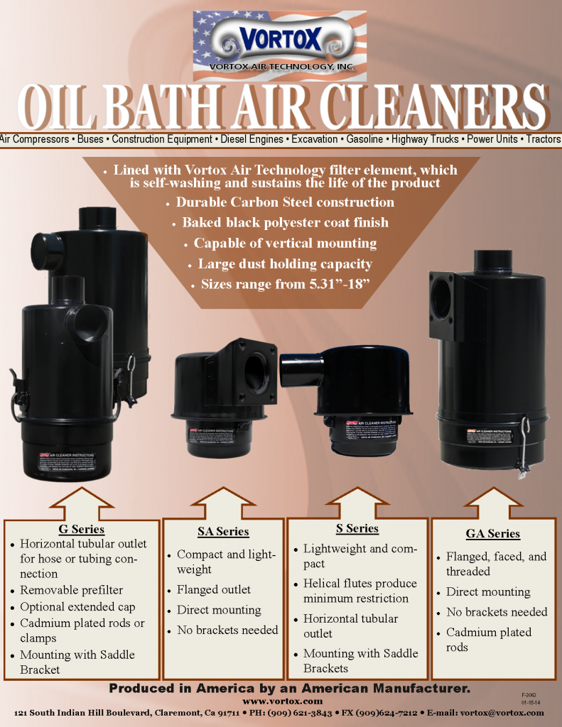 Facebook Oil Bath Air Cleaners